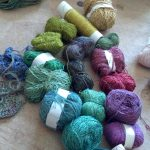 Assembling Handpainted Yarns for Freeform Crochet, Freeform Knitting, Weaving Projects
